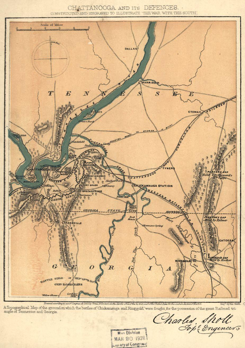 Chattanooga and its defences