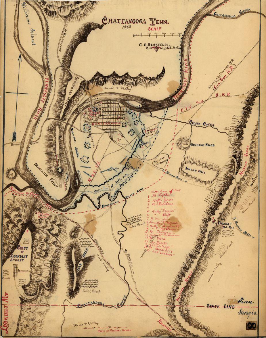 Chattanooga Tenn. 1863 | American Battlefield Trust on
