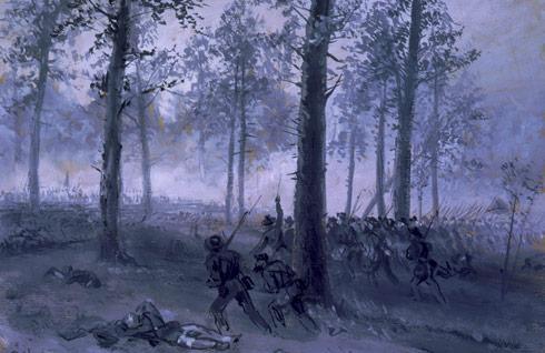 Chickamauga by Alfred Waud