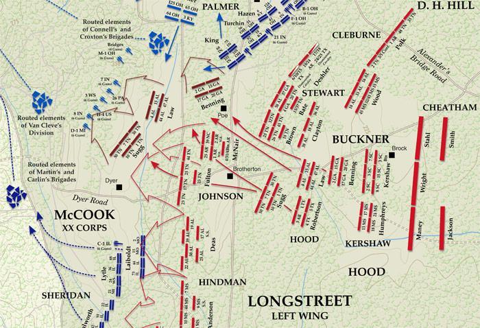 Chickamauga Map - Longstreet's attack (700px)