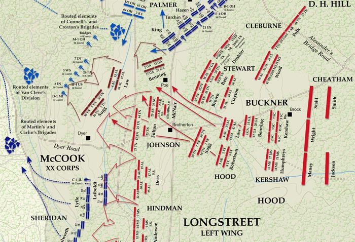 Chickamauga Map - Longstreet's attack (700px)