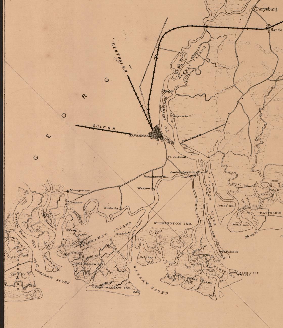 Sketch of portions of seacoast of South Carolina & Georgia