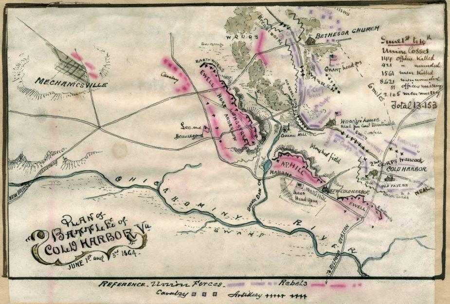 Plan of Battle of Cold Harbor, Va. : June 1st and 3rd 1864