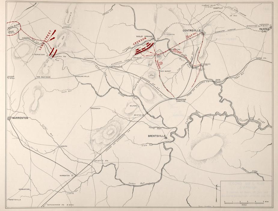 Confederate Positions - August 28, 1862