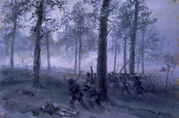 Confederates Advancing