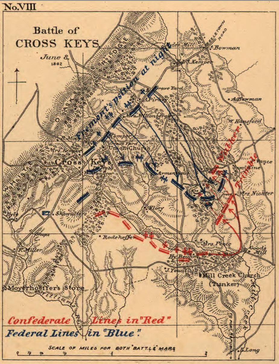 Cross Keys - June 8, 1862 by Jedediah Hotchkiss