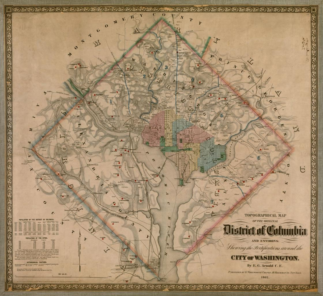 Topographical Map District Of Columbia Civil War Trust - Washington dc map during civil war