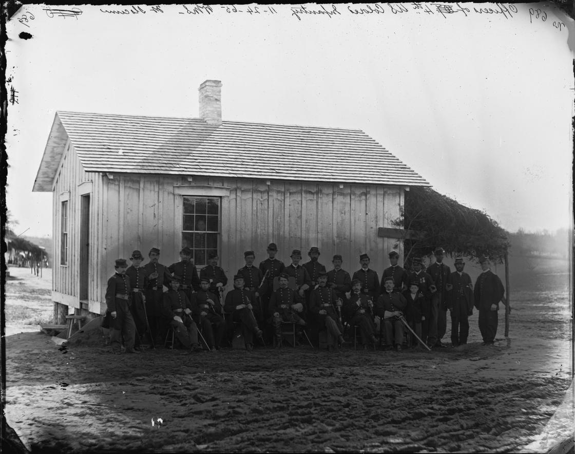 Christian Fleet and the officers of the 4th USCT