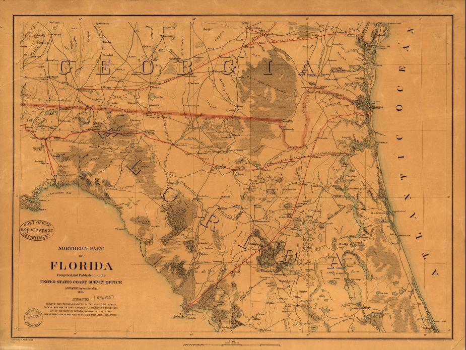 Northern part of Florida Drawn by H. Lindenkohl