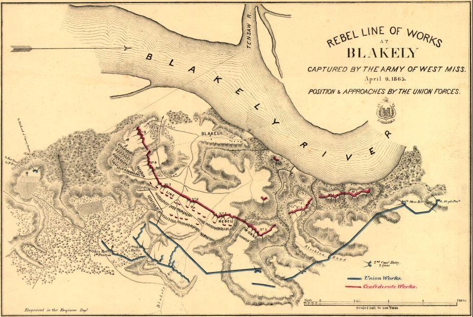 Rebel line of works at Blakely captured by the Army of West Miss.