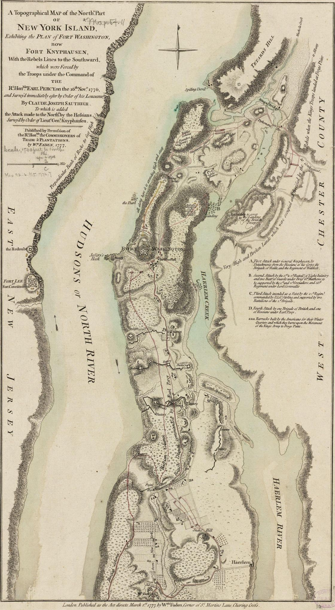 Fort Washington Map.Fort Washington November 16 1776 American Battlefield Trust