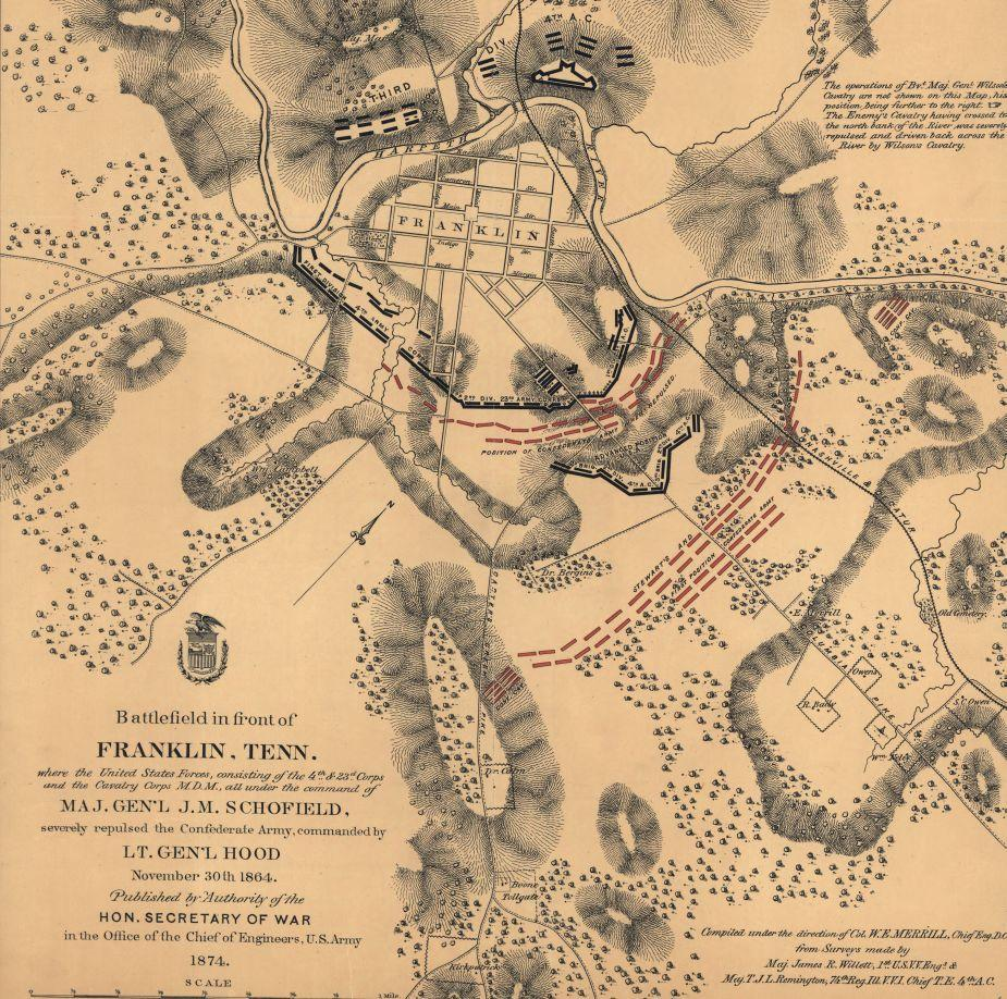 Battlefield In Front Of Franklin Tennessee Civil War Trust - Washington dc map civil war