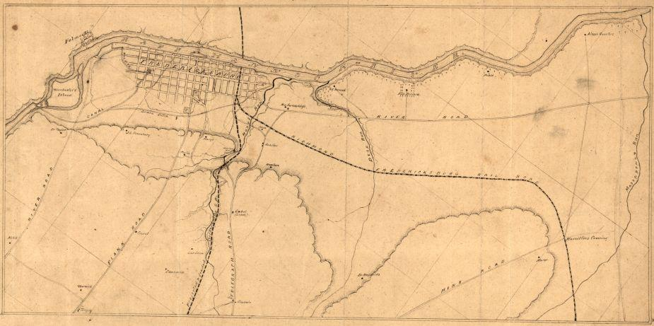 Map of Fredericksburg, Va. and Vicinity