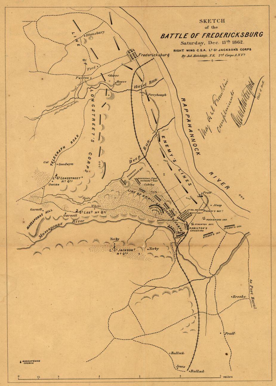 Sketch of the battle of Fredericksburg