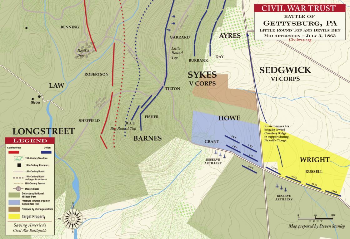 Gettysburg - Devil's Den and Little Round Top, July 3, 1863
