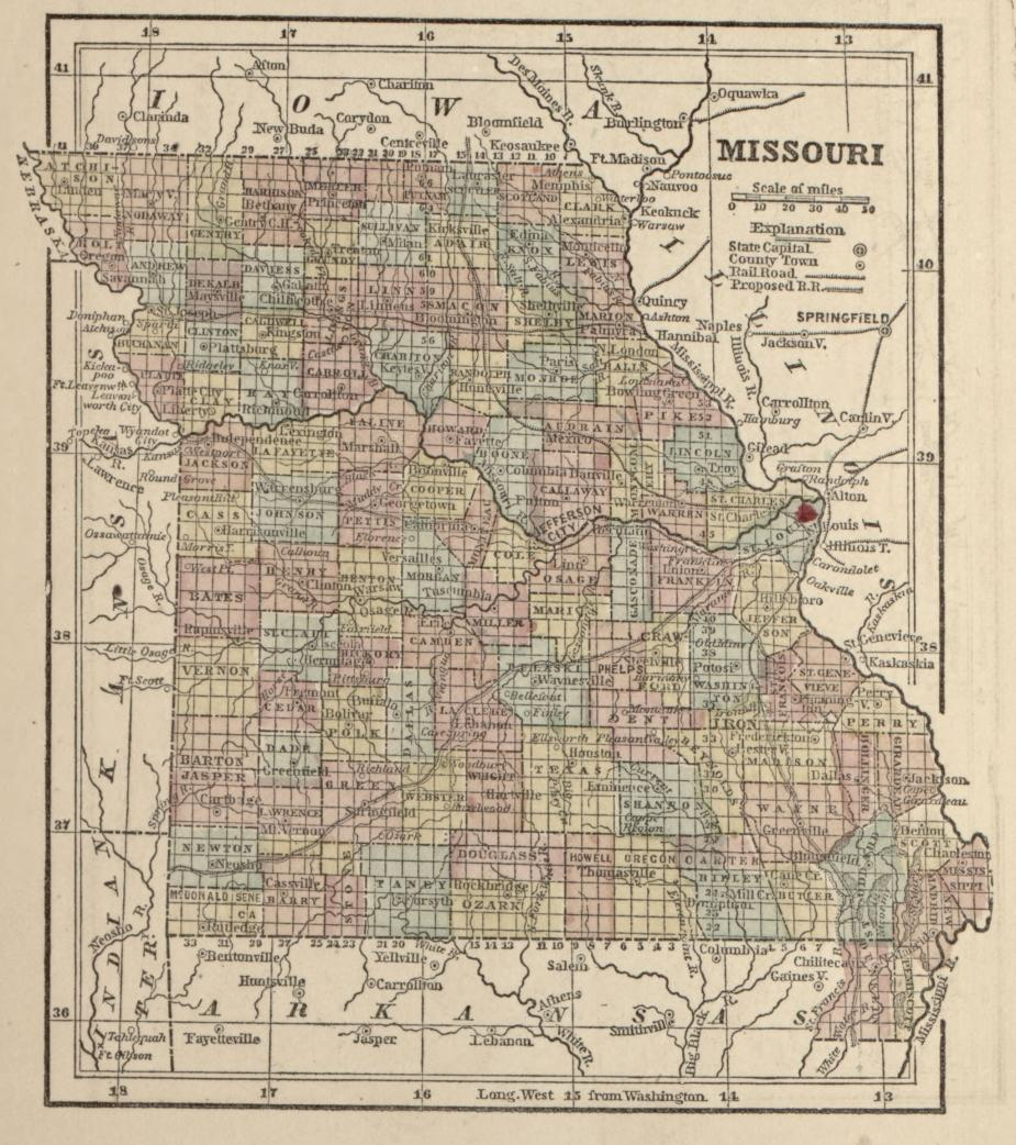 Historical Map of Missouri