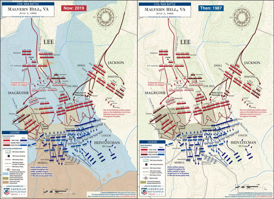 Malvern Hill - Then and Now (November 2019)