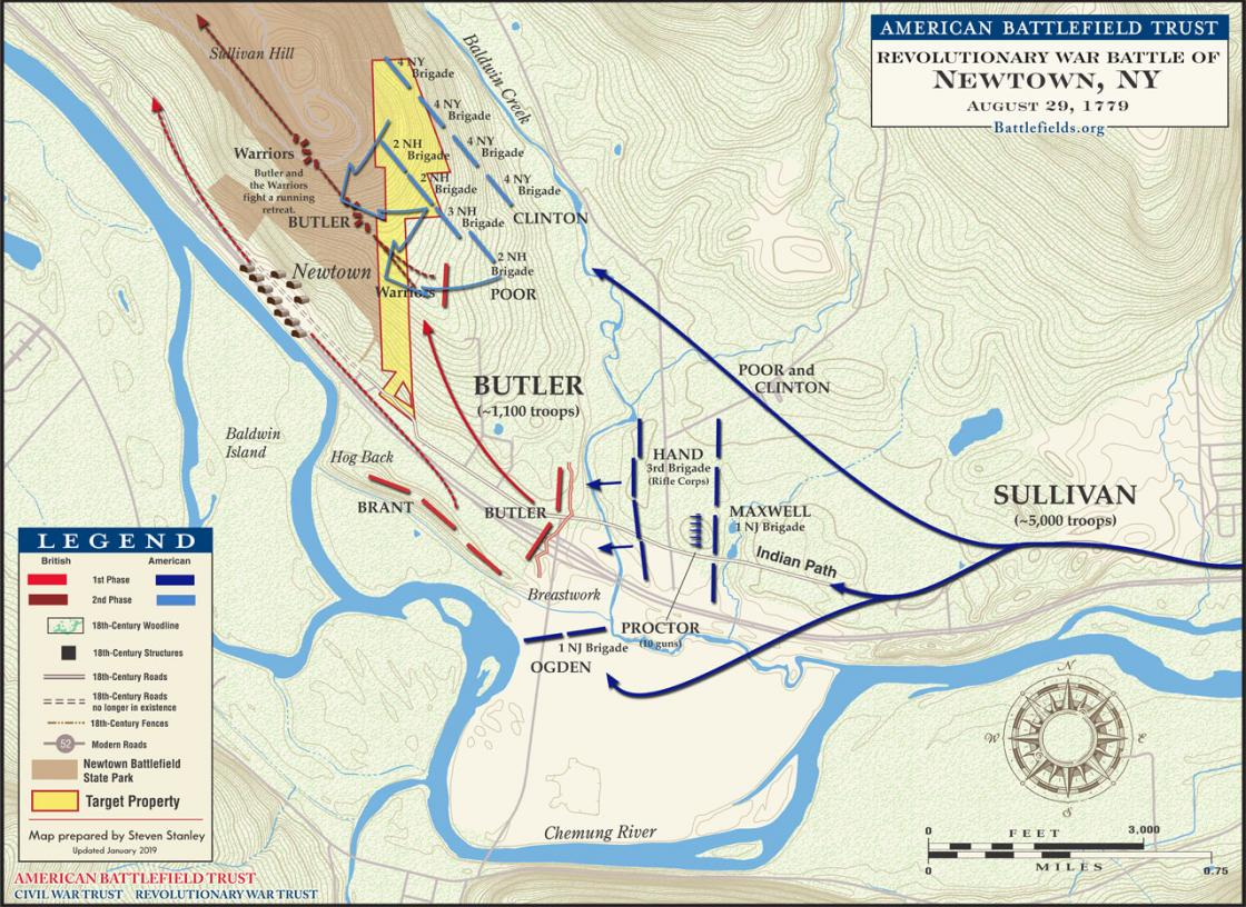 Battle of Newtown, NY - August 29, 1779