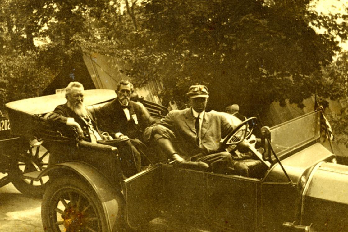 Louis and Carl Hennighausen at the 1913 Gettysburg Reunion
