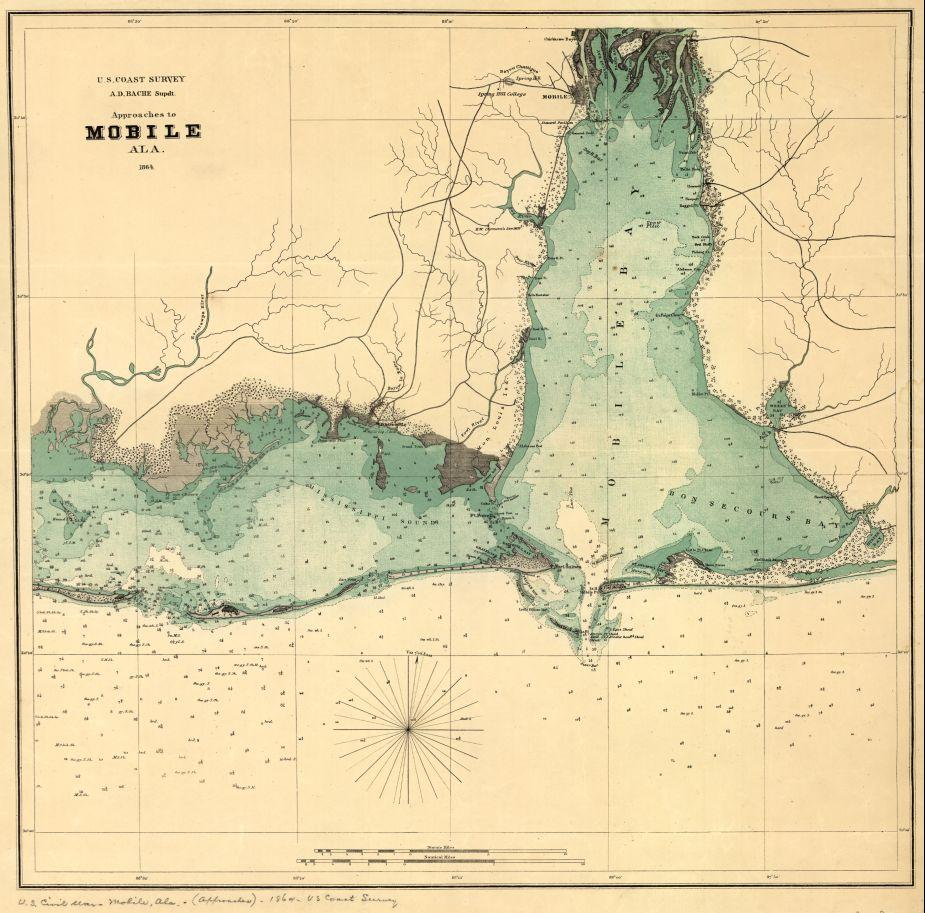 Approaches to Mobile, Ala. 1864. | American Battlefield Trust on battle of games, west florida maps, battle of social media, american revolutionary war maps, valley forge maps,