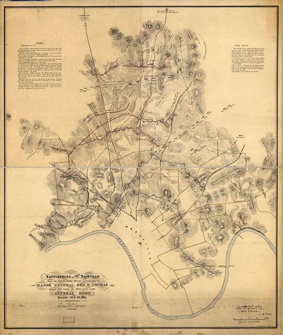 Battlefields in front of Nashville, Tennessee
