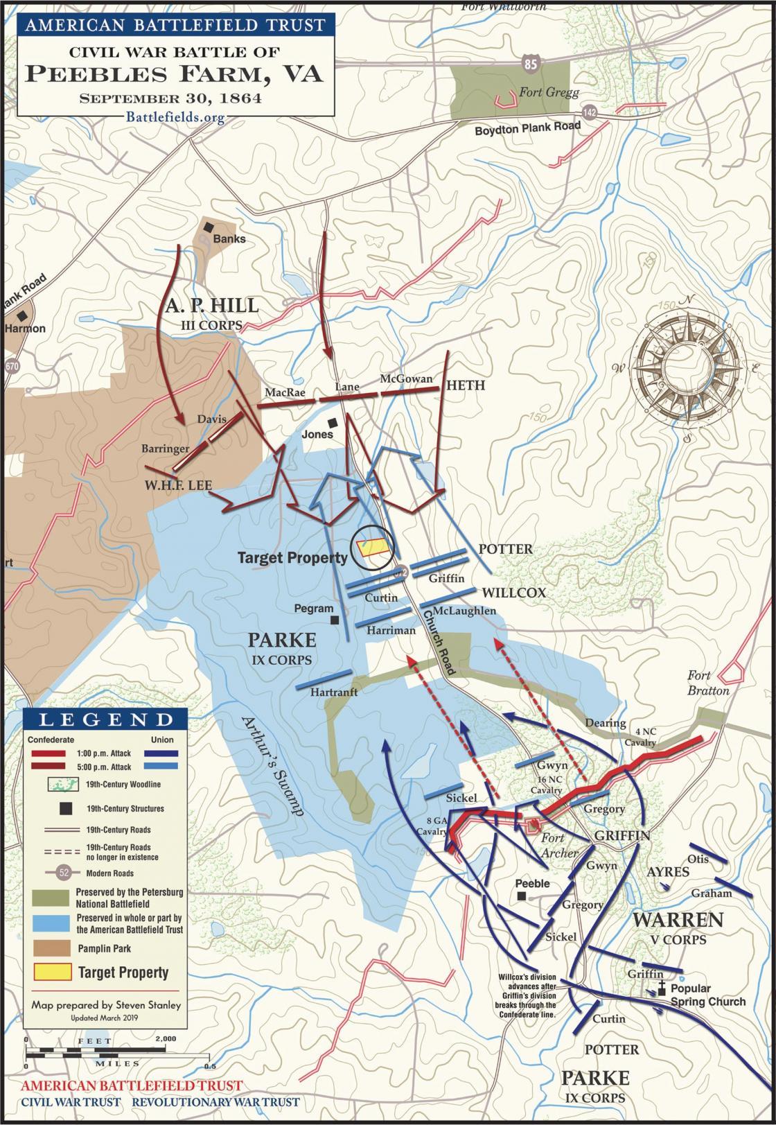 The Battle of Peebles Farm - September 30, 1864