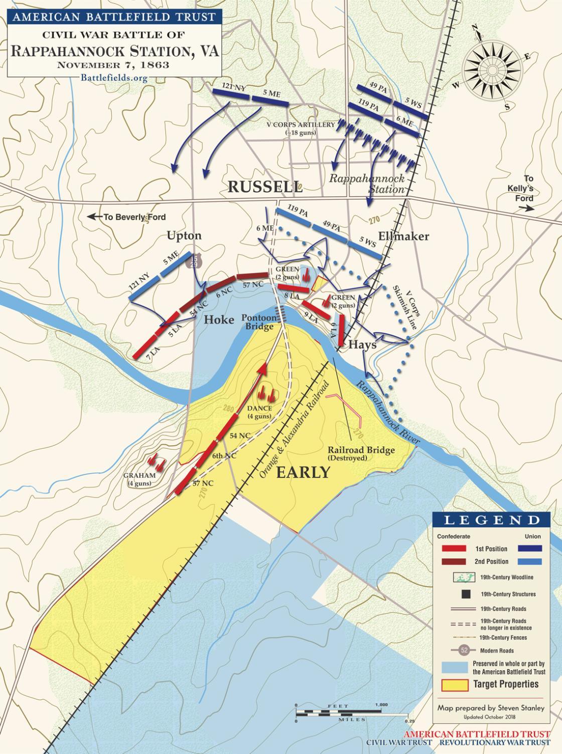 The Battle of Rappahannock Station - November 7, 1863