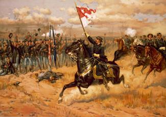 Sheridan Rallying his Troops at Cedar Creek