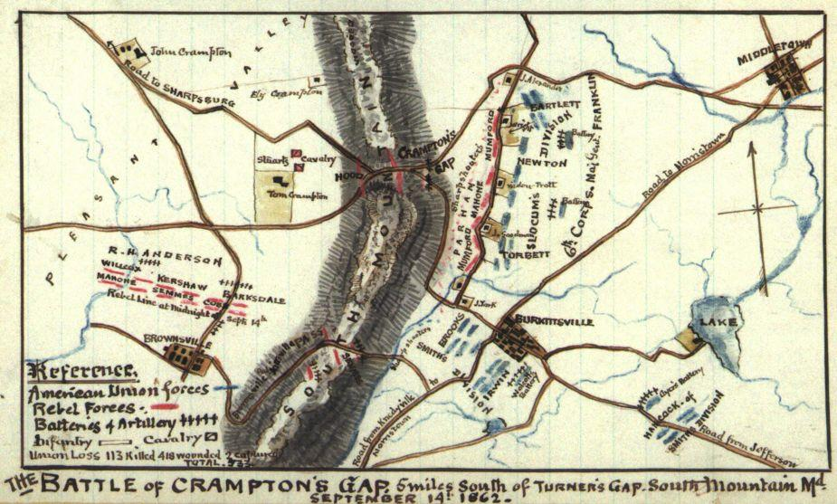 The Battle of Crampton's Gap | American Battlefield Trust on map of swamps, map of yukon, map of bristol, map of correlations, map of carpet, map of betsy ross,