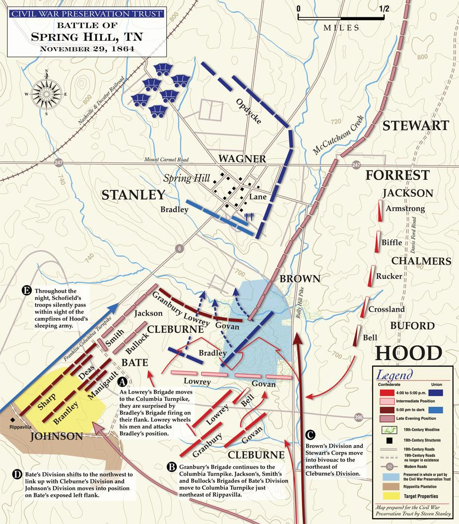 Battle of Spring Hill - November 29, 1864