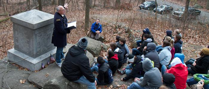 STudents at Gettysburg