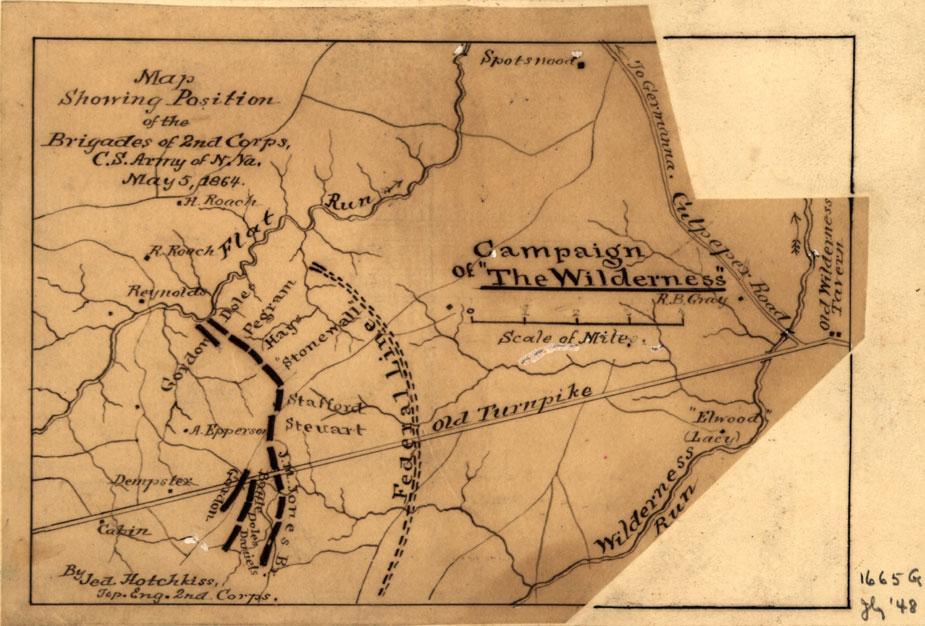 The Wilderness May   By Jedediah Hotchkiss Civil War Trust - Washington dc map civil war