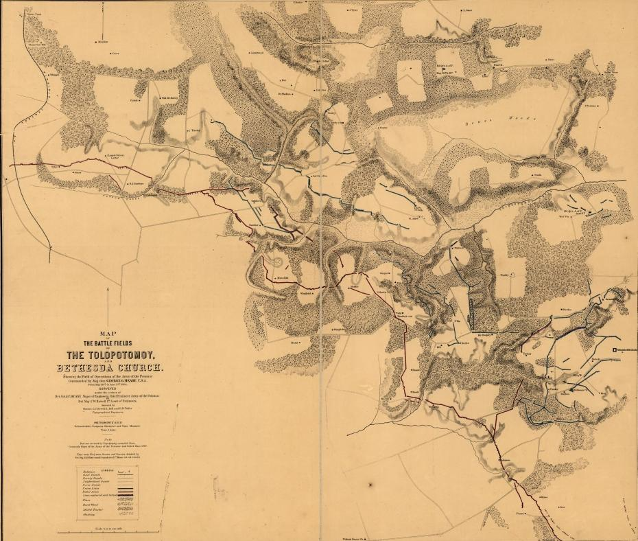 Historic Map Battle of Totopotomoy Creek