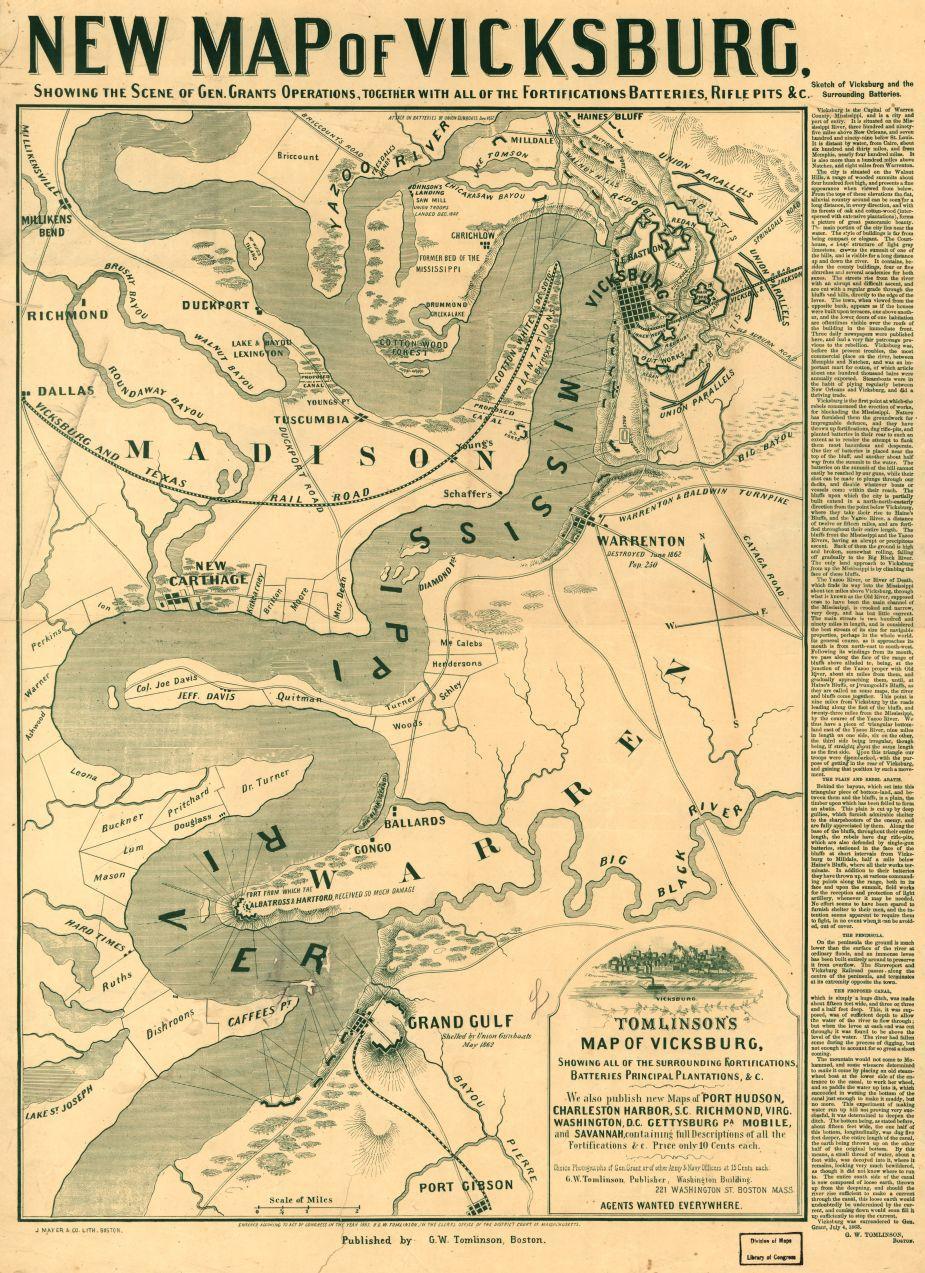 Battle Of Vicksburg Tomlinson Civil War Trust - Washington dc map civil war