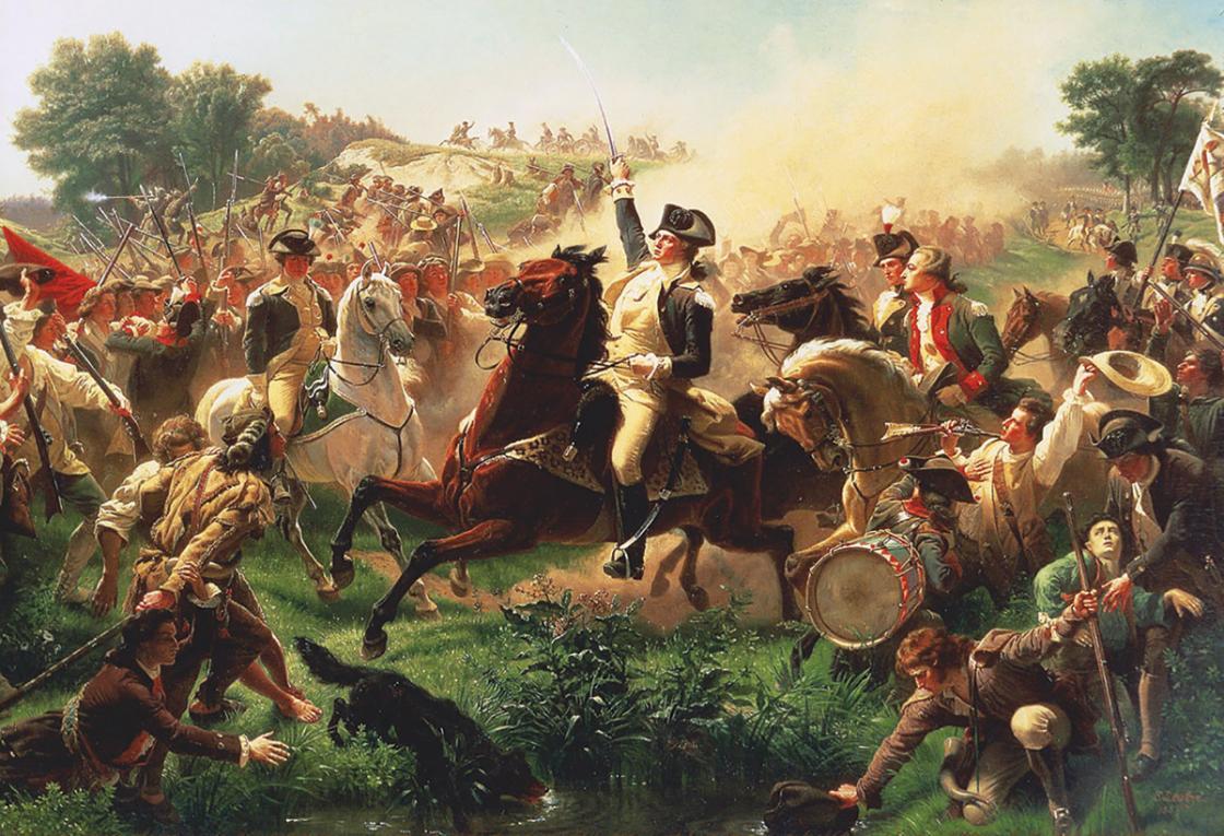 Washington at Monmouth Painting