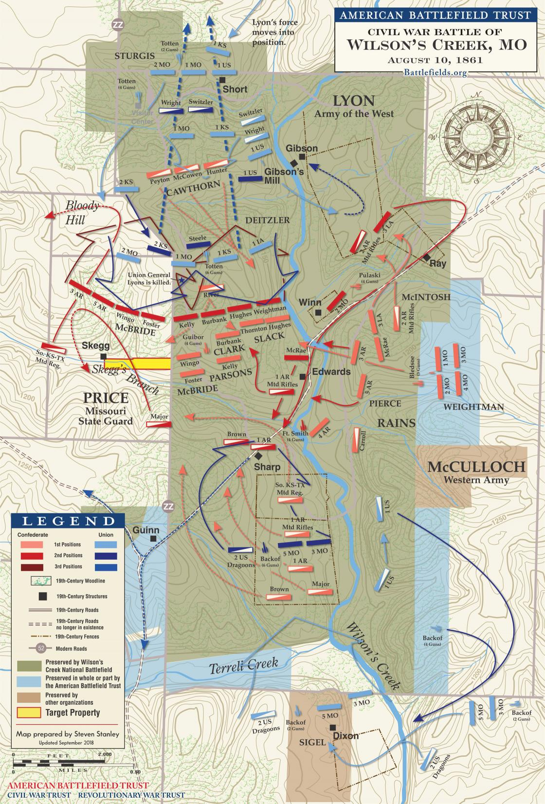 The Battle of Wilson's Creek - August 10, 1861