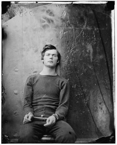 This image depicts Lewis Powell awaiting his execution.