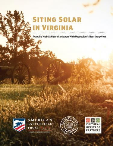 Solar Report Cover - Siting Solar in Virginia