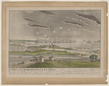 A view of the bombardment of Fort McHenry .tiff to .jpg conversion
