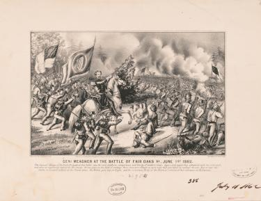 General Meagher at the Battle of Fair Oaks