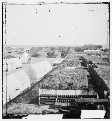 Interior of Fort Wagner