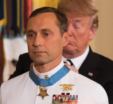 Britt Slabinski Receiving MOH from Trump