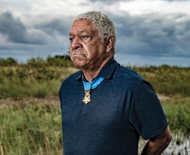 MOH Recipient Morris Melvin Visits Morris Island Feature Square
