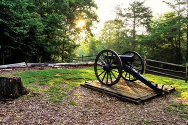 Fortified Confederate camp at Beech Grove