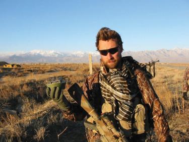 Britt Slabinski in Afghanistan