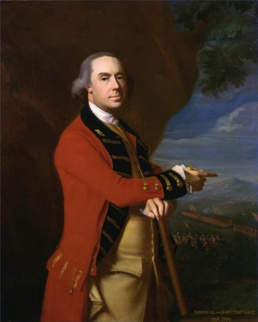 A portrait of Thomas Gage