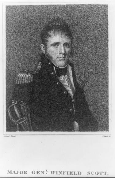 Young Winfield Scott War of 1812