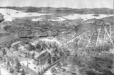 Balloon View of Washington DC in May, 1861
