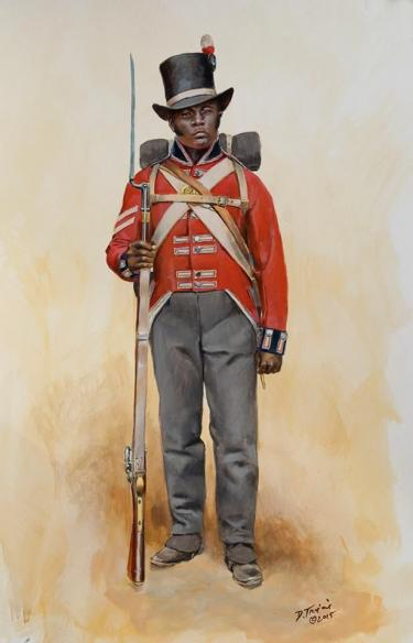 Illustration of a black Colonial Marine, by Don Troiani