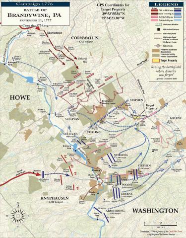 Battle of Brandywine - September 11, 1777